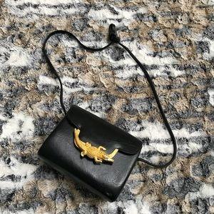 Vintage Alligator Leather Crossbody Bag